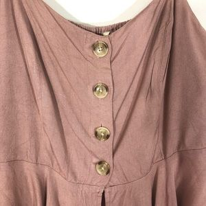 Style Envy Tops - Style Envy Button Front Crop Top